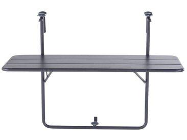 Table de balcon rabattable en métal gris L88 Batignolles