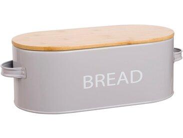 Boîte à pain en acier gris