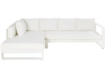 Canapé d'angle de jardin 4/5 en places en aluminium blanc Thetis