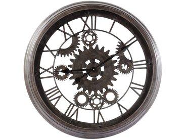 Horloge indus en métal noire D82