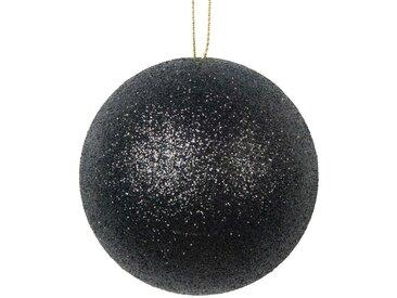 Boule de Noël noire à paillettes