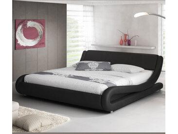Lit double Alessia – noir 160x200cm