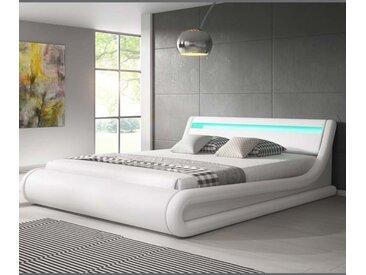 Lit coffre design Parisina – blanc (180x200cm)