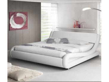 Lit double Alessia – blanc 160x200cm