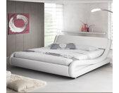 Lit simple Alessia – blanc 90x190cm
