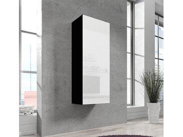 Armoire murale modèle Nora V1 (40x126cm) couleur noire et blanche