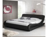 Lit simple Alessia – noir 90x190cm