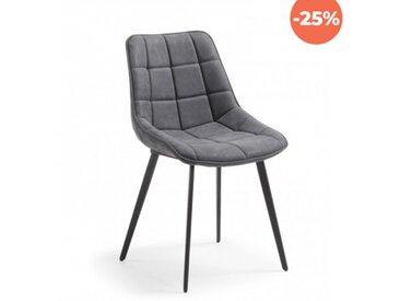 Ada - Chaise rembourrée grise