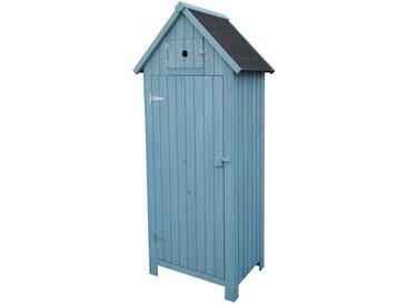 Armoire de jardin Cabanon - 77 x 54.5 x 179 cm - Bleu ciel