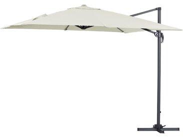 Parasol jardin déporté Alu Sun 3 - Carré - 3 x 3 m - Ecru