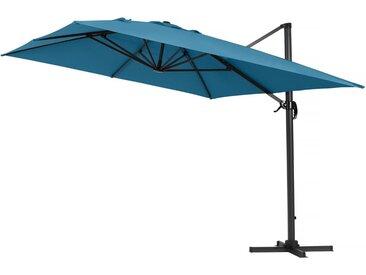 Parasol jardin déporté Alu Sun 4  - Rectangle- Bleu - 3 x 4 m