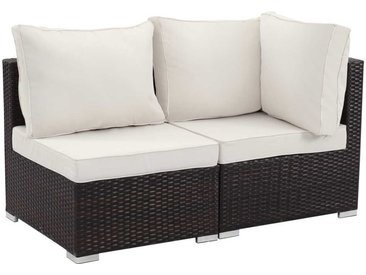 Salon jardin méridienne 2 pcs Ibiza - Buffalo - Marron