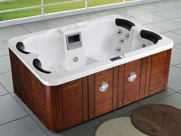 Spa Fidji 4 places - Cuve blanc - système Balboa + Bluetooth intégré - 210x152x81 cm