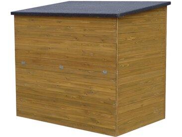 Coffre de jardin en bois Caja - 137 x 91 x 121 cm - Marron
