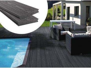 Pack 5 m² - Lames de terrasse composite co-extrudées - Gris