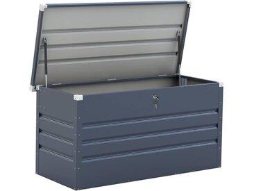 Coffre de jardin métal Store - 480 L - 132 x 61 x 60 cm - Gris