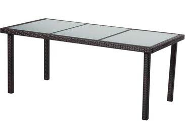 Table de jardin St Tropez 8 - Buffalo - 180 x 90 x 74 cm - Marron