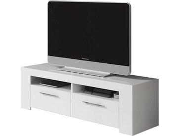 Meuble TV Ambre - 120 x 42 x 37 cm - Blanc