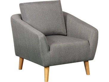 FAUTEUIL  TISSU TIMMY - GRIS CLAIR