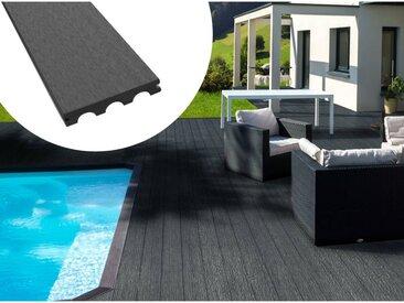 Pack 15 m² - Lames de terrasse composite pleines - Gris foncé