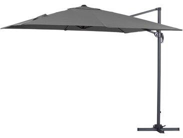 Parasol jardin déporté Alu Sun 3 - Carré - 3 x 3 m - Gris
