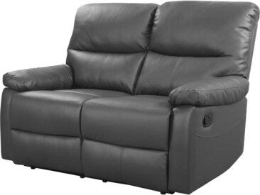 Canapé relax Lincoln - 147 x 89 x 103 cm - 2 places - Gris