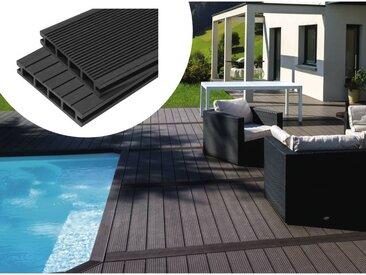 Pack 15 m² - Lames de terrasse composite alvéolaires - Gris