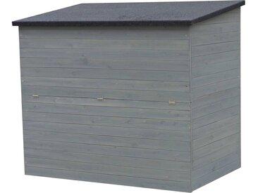 Coffre de jardin en bois Caja - 137 x 91 x 121 cm - Anthracite