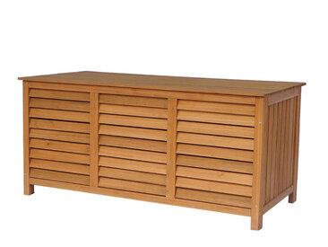 Coffre de jardin en bois Macao - 130 x 64 x 60 cm - Marron