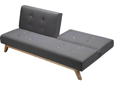 Canapé clic-clac Luca - 180 x 79 x 76 cm - 3 places - Gris