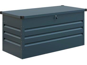 Coffre de jardin métal Store - 480L - 132 x 61 x 60 cm - Bleu gris