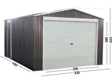 Garage métal Nevada avec porte roulante - 15,61m²