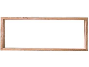 Etagère double en teck massif pour salle de bain, 65 cm ou 101 cm