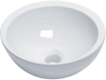 Vasque lave mains ronde 32 cm en céramique blanche ou noire, Spot de Line Art