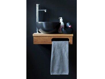 Etagère lave main en Teck massif 40 x 20 cm