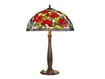 Artistar Coquelicots lampe Tiffany pied nénuphars