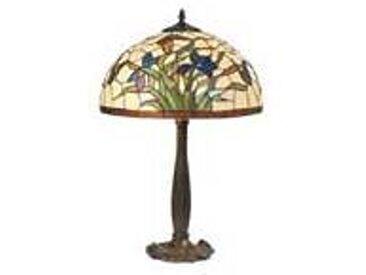 Artistar Iris bleu lampe style Tiffany à fleurs bleues tout petit modèle