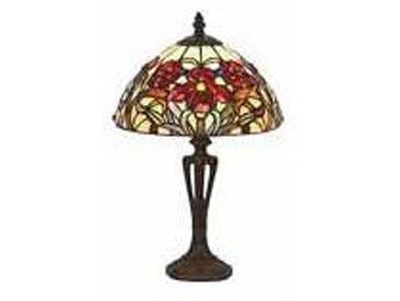 Artistar Iris rouge Petite lampe style Tiffany