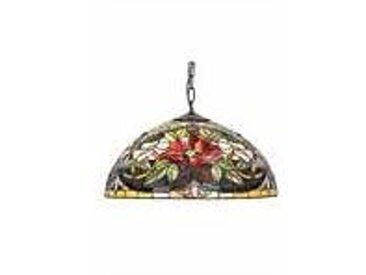 Artistar Coquelicot Suspension style Tiffany 50cm 2 ampoules
