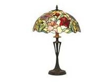 Artistar Orchidée lampe style Tiffany rouge moyen modèle