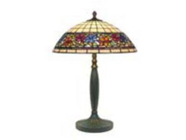 artistar Violette lampe style Tiffany à fleurs moyen modèle