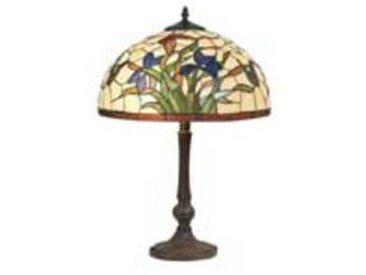 artistar Iris bleu lampe style Tiffany à fleurs bleues moyen modèle