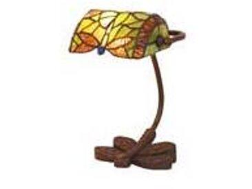 Artistar Libel lampe de bureau en verre style Tiffany