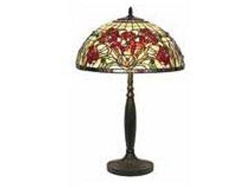 Artistar Iris rouge Grande lampe style Tiffany