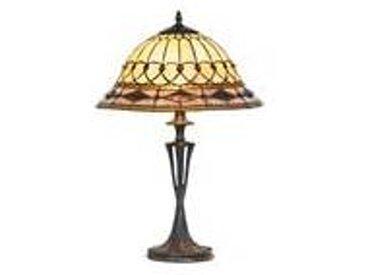 Artistar Belle époque lampe style Tiffany avec cabochons moyen modèle pied travaillé