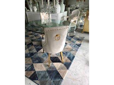 Pop Design Chaises capitonnées avec anneau / poignée au dos - personnalisables - lot de 6
