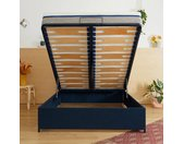 Sommier coffre Tediber 160x200  bleu - Livré gratuitement en express - Fabriqué en France - Paiement en 3X ou 12X - 100 nuits d'essai