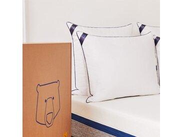 Oreiller Tediber  50x80 - Fabriqué en France - Livraison gratuite et express- Plumes, duvet de canard et microfibres