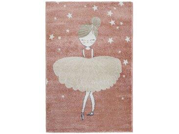 Tapis enfant 100x150 cm BALLERINE coloris rose