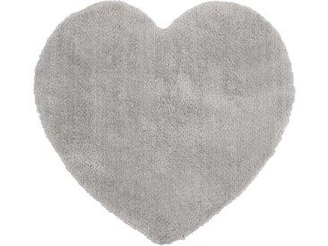 Tapis enfant 80x80 cm CŒUR coloris gris